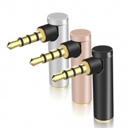 90 fokos könyök, 3,5 mm derékszögű, férfi és női  adapter, 4. szakasz, L fejhallgató audio konverter, 3,5 mm, hím, nő