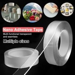 1mm*3cm* 1 méter Újrahasznosítható kétoldalas ragasztó nanoszalaggal mosható Láthatatlan gél szalag