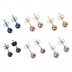 Antiallergén mini méretű 5mm / 6mm gyöngyök fülbevaló színes fülbevaló napi dekoráció