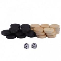 Fa 30 db, 2 kockával, táblázatos társasjáték sakkátmérővel, 1,9 cmes backgammon sakkdarab gyerekeknek