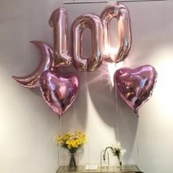 32 hüvelykes nagy fólia születésnapi lufi hélium számú léggömb Boldog születésnapot Party dekoráció Rózsa arany