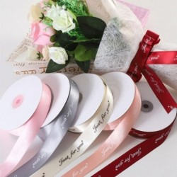 25MM 10M csak neked nyomtatott poliészter szalag esküvői karácsonyi ünnepi dekorációkhoz DIY kártya ajándékok