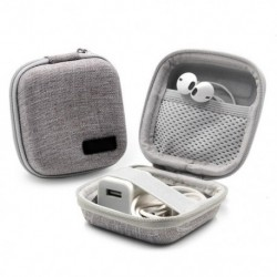 Anti Shock Mini fejhallgató tok, hordozható fülhallgató  USB kábel doboz tárolás memóriakártya fülhallgatóhoz