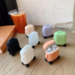 AirPods  Aranyos bőrönd vezeték nélküli fülhallgató  Poggyászzsák Védje le