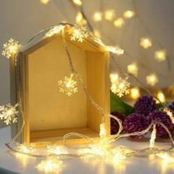 3M 20Lights karácsonyi hópehelyfények húr akkumulátorral működtetett karácsonyfa dekoráció könnyű otthoni