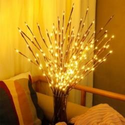 20LED karácsonyi dekorációk LED fűzfa lámpa elemmel működtetett otthoni dekoratív karácsonyi díszek karácsonyfa