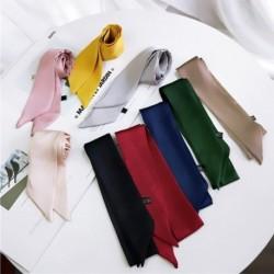 Fogantyúval Nyakkendő táska övszíj Kézitáska kiegészítők Szalag selyem sál szilárd dizájnnal lányoknak kendő