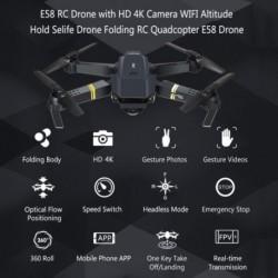 E58 RC Drone HD 4K kamera WIFI magasságban tartó Selife Drone Összecsukható RC Quadcopter E58 Drone