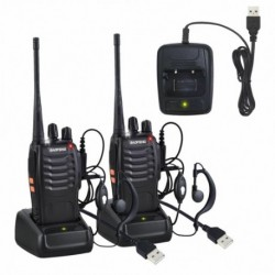 1 db / 2 db Baofeng Walkie Talkie UHF 400470MHZ kétirányú rádió 16CH 5W BF888S nagy hatótávolságú