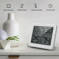 LCD hőmérő higrométer elektronikus hőmérséklet és páratartalomfigyelő óra