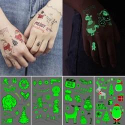 Sötétben világító ideiglenes Tetoválás - vízálló matrica - unisex - Karácsonyi mintákkal