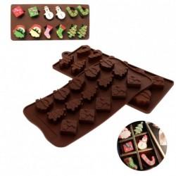 Karácsonyi szilikon torta díszítő öntő bonbon forma Csokoládé sütő eszközök