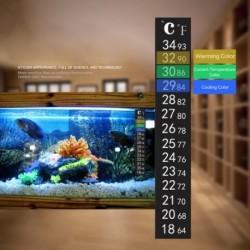 Kettős méretű akvárium haltartály hőmérsékleti hőmérő matrica öntapadós ragacsos hőmérsékletmérő