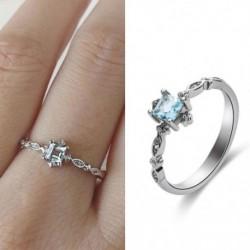 Női kicsi, friss, elegáns berakott cirkónia gyűrű divatos esküvői ajándék gyűrű