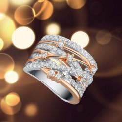 • Többrétegű, keresztköbös cirkónium gyűrűk, esküvői eljegyzési gyűrűk, ékszer, női ajándékok