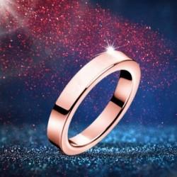 Titán acélból készült, 3 mmes gyűrűs női férfi eljegyzési esküvői gyűrű, rózsa arany