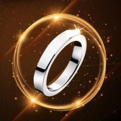Titán acél 3 mmes gyűrűs női férfi eljegyzési esküvői gyűrű ezüst