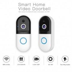 Intelligens videó csengő vezeték nélküli WiFi kaputelefon video csengő Wifi Night Vision kamera biztonsági rendszer ajtó