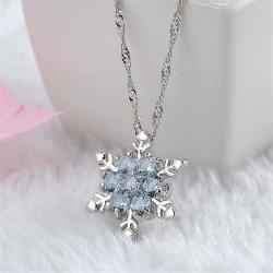 Női kristály karácsonyi hópehely ezüst szín medál lánc nyaklánc ajándék