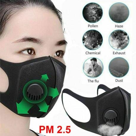 Pro szájmaszk arcmaszk PM2.5 légszennyezés ellen Mosható és újrafelhasználható
