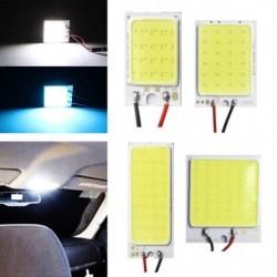 12 V-os, 16SMD COB LED-es panel Autó belső tér olvasó lámpa Izzó fény kupola T10 adapterrel Festoon Base