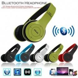 P47 vezeték nélküli Bluetooth5.0 sztereó fejhallgató 3,5 mm-es audiokábel Kihangosító-támogatás MP3 TF kártya