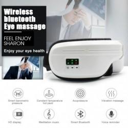 Elektromos rezgésű Bluetooth szemmasszázs készülék ráncok fáradtsága enyhíti a  kompressziós terápiás szemüveget