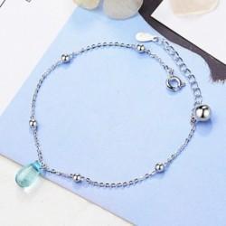 Divat egyszerű kék kristály vízcsepp medál karkötő női ékszer ajándék