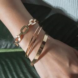 3 db / Set divat egyszerű arany minimalista karkötő ruha női ékszer ajándék