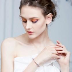 Divat egyszerű, gyönyörű pezsgő kristály elasztikus karkötő női ékszer ajándék