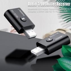 Bluetooth 5.0 audio adó adó-vevő adapter 3.5 mm-es USB-vel a TV PC Car AUX-hoz