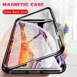 Fém mágneses telefon tok iphone6 6S 6P 6Plus iphone7 7Plus 8 8Plus telefonhoz edzett üveg mágneses védőhuzat