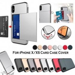 IPhone X / XS tok, kártyafoglalat leszerelhető, ütésálló vékony borító