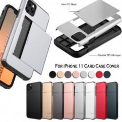 Az iPhone 11 tok, kártyatartóval ellátott, nyílt páncélzathoz, leszerelhető, ütésálló vékony borítás