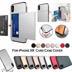 IPhone XR tok  kártyafoglalathoz , páncél leszerelhető ütésálló vékony borítás