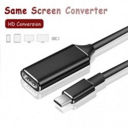 C típusú USB-kábel adapter 4 kHz-es 30Hz-es USB 3.1-es HDMI-kábelhez hím-női konverter PC-s számítógép-TV-kijelzőhöz