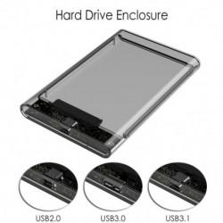 2,5 '' átlátszó HDD tok SATA 2.0 / 3.0 / 3.1 - USB 3.0 külső merevlemez-meghajtó SSD ház