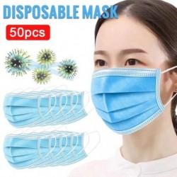 50 db / csomag eldobható arcmaszk 3 hengeres porvédő szájmaszk fülhurok