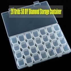 28 rács DIY gyémántfestés fúródoboz manikűr eszköz ékszer tárolódoboz független Nincs húr, nincs hiányzó tároló