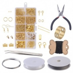 Fülbek DIY kiegészítők gyűrűs horoggal ellátott fiókos vegyes készlet ékszerek készítéséhez