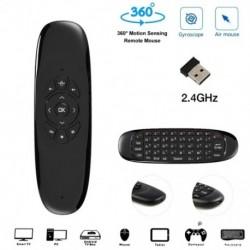 C120 giroszkóp, 2.4G Air mouse egér újratölthető vezeték nélküli billentyűzet távirányító az Android TV Box