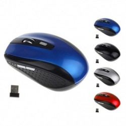 Hordozható optikai egér, 2,4 GHz-es vezeték nélküli egér, USB vevő pro gamer laptop asztali számítógéphez