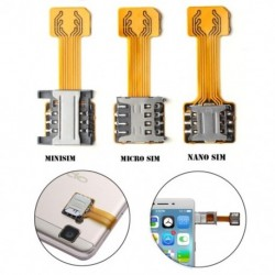Univerzális hibrid Sim nyílású kettős SIM kártya adapter Micro SD Extender Nano Mini SIM Android Telefon xiaomi HuaWei