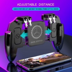 Játékvezérlő MEMO mobiltelefon játékfogantyú a PUBG Six Finger többfunkciós készülék kezelő Gamepad számára