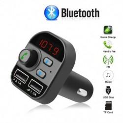 Bluetooth 5.0 autós kihangosító vezeték nélküli Bluetooth készlet FM adó adó autós MP3 rádió adapter 2 USB töltő