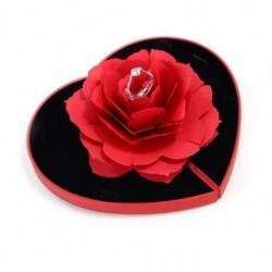 Kreatív szív alakú romantikus rózsa tervezési gyűrűs doboz ajándék ékszer kijelző