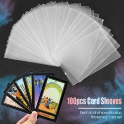 100 db átlátszó kártyahüvely mágikus társasjáték Tarot pókerkártya védőtáska