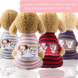 Kutya pizsama Kisállat Puppy Jumpsuit otthoni kiszolgálás Kisállat ruházat Macska ruházat tavasszal és nyáron