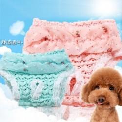 Több méretű kisállat kutya sifon csipke rövidnadrág pelenka egészségügyi és élettani nadrág mosható női rövid
