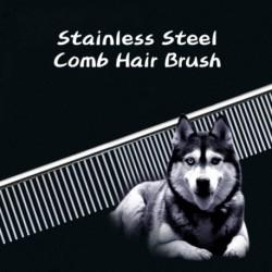 1 db kutyafésű hosszú vastag szőrme eltávolító kefe rozsdamentes acélból készült könnyű kisállat